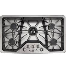 30 Inch 5 Burner Gas Cooktop Ge Cafe Cgp650setss 36 In Deep Recessed Gas Cooktop With 5