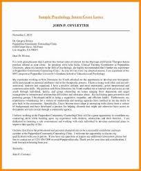 psychology internship cover letter sample psychology intern cover