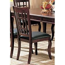 amazon com set of 2 dining chairs in cherry finish chairs