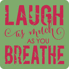 laugh as much as you breathe inspirational wall stickers vinyl