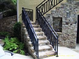 Outdoor Metal Handrails Metal Handrails For Stairs Exterior Hondurasliteraria Iron
