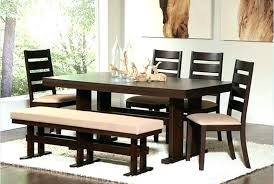dining table upholstered bench for dining room table farm