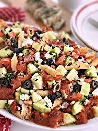 Cold Pasta Salad Recipe Mediterranean Grilled Chicken Pasta Salad Recipe Tauni Co