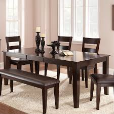 espresso dining table with leaf steve silver company victoria rectangular dining table with