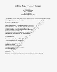 internal resume sample sample resume online exclusive ideas monster resume samples 6 game tester resume sample resume samples online