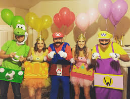 halloween costumes ideas for family of 3 8 co ed group halloween costumes mario kart mario and costumes