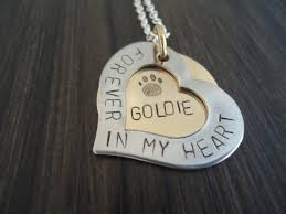 personalized pet memorial necklace heart sted pet