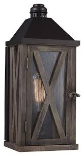 Rustic Outdoor Wall Lighting Feiss Ol17000dwo Orb Lumiere Rustic Weathered Oak