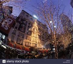 christmas tree lights macy store herald square midtown manhattan