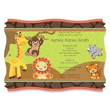 neutral jungle theme baby shower invitation ideas horsh beirut