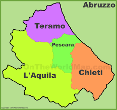 Italy Region Map by Abruzzo Provinces Map