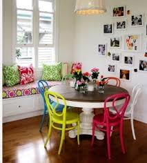 colorful dining room tables 1000 ideas about paint dining tables