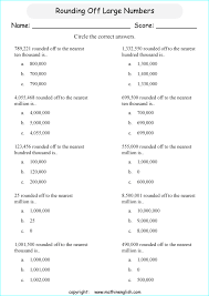 answer these multiple choice questions about rounding numbers off