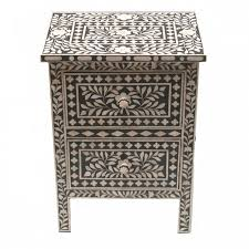bone inlay side table bone inlay furniture craftsman interiors and online furniture