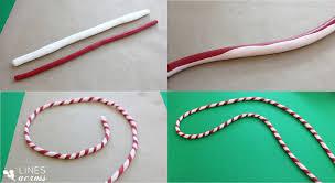 cursive clay ornaments lines across