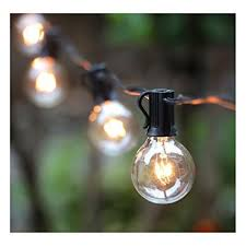 Vintage Patio Lights G40 Globe String Lights With 25 Clear Bulbs Vintage Backyard Patio