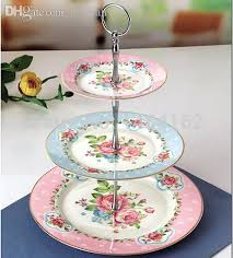 cake stands wholesale discount wholesale 2015 new arrival luxury bone china with gold