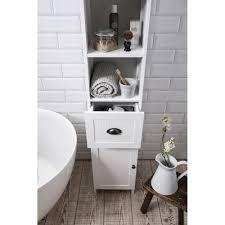 1680mm white oak timber wood grain wall hung bathroom tallboy