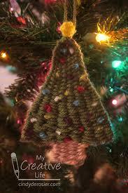 cindy derosier my creative life woven christmas tree ornament