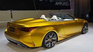 lexus yellow convertible lexus lf c2 convertible purely a concept says chief designer
