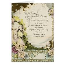 wedding congratulations card vintage wedding congratulations card zazzle