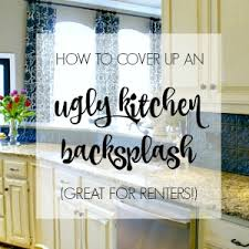 Dimples And Tangles How To Cover An Ugly Kitchen Backsplash Way - Covering tile backsplash