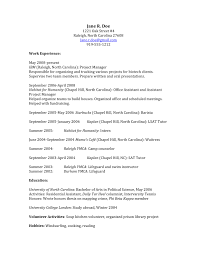 volunteer examples for resumes how to craft a law school application that gets you in sample jane doe s starting resume