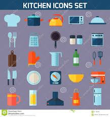 kitchen tools and equipment flat kitchen and cooking icons stock vector image 57185666