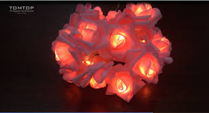 led rose lamp string light for party wedding home decor christmas