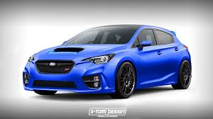 2016 subaru impreza hatchback blue 2018 subaru impreza wrx sti rendered as a hatchback autoevolution