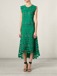 chloé lace dress in green lyst