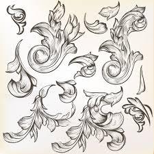floral swirl ornament design vector 02 welovesolo