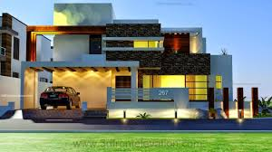Contemporary Style Homes by 1 Kanal Modern Contemporary Design 3d Front Elevation Sukh Chayn