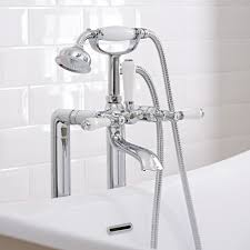 the bathroom taps buyer s guide bigbathroomshop traditional freestanding bath shower mixer tap