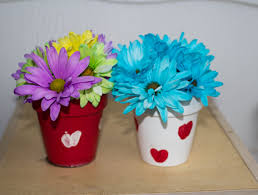 Cute Flower Pots by Valentine U0027s Day Flower Pots A Simple Valentine U0027s Day Gift Idea