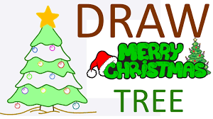 christmas tree how to draw christmas tree from kids greeting