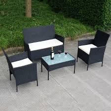 Patio Furnitures by Amazon Com Tangkula 4 Pcs Wicker Furniture Set Rattan Sofas