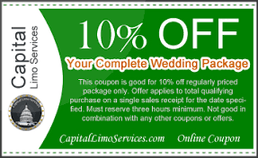 wedding package deals special offers and deals capital limo services