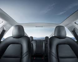 Interior Blue Tesla Model 3 Minimalistic Interior Business Insider