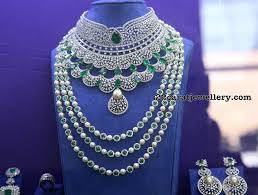 indian wedding necklace sets images Indian diamond wedding jewellery sets jewellery designs jpg