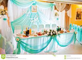 turquoise wedding turquoise wedding table of newlyweds stock photo image of chair