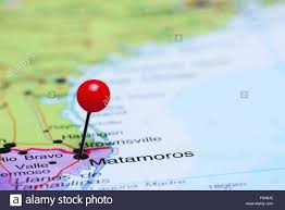 Map Of Mexico by Matamoros Pinned On A Map Of Mexico Stock Photo Royalty Free