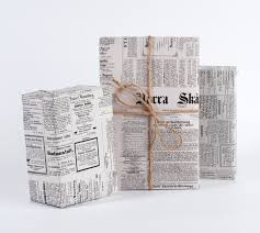 vintage swedish newspaper wrapping paper