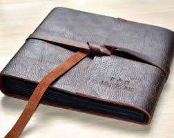 photo album leather leather scrapbook etsy