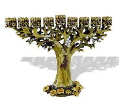 bejeweled tree menorah