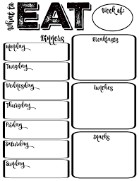 printable meal planner with calorie counter diet plan template tvsputnik tk