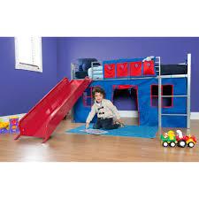 Boys Bunk Beds With Slide Bunk Beds Child Loft Bed With Slide Loft Bed With Slide Ikea