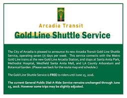 Los Angeles Arboretum Map by City Of Arcadia Announces Gold Line Shuttle Service Connecting