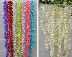 Hanging Flowers Aliexpress Com Buy Free Shipping Artificial Silk Flower Wisteria