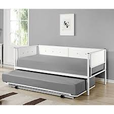 Daybed With Headboard by Twin White Upholstered Faux Leather Metal Day Bed Frame With Pop